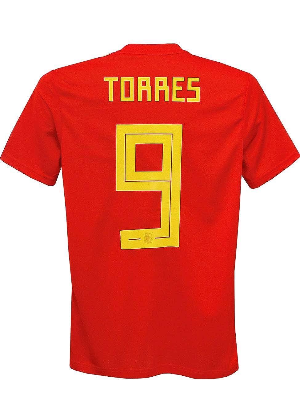 (アディダス) adidas 18 19スペイン代表代表 ホーム 半袖 トーレス 2018ワールドカップバッジ+LIVING FOOTBALLバッジ付 DTY42-CX5355 B07J58W5MK L