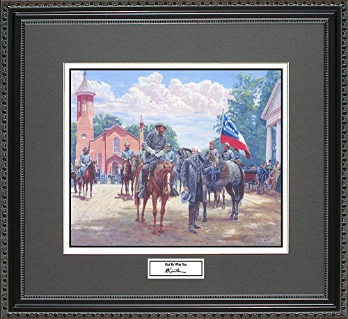 Mort Kunstler GOD BE WITH YOU Framed Wall Art Civil War Print, 18x16