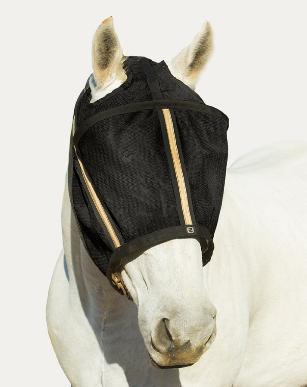 Noble Outfitters Guardsman Fly Mask Protection Black Standard Small Horse UV/UPF 25+ by Noble Outfitters