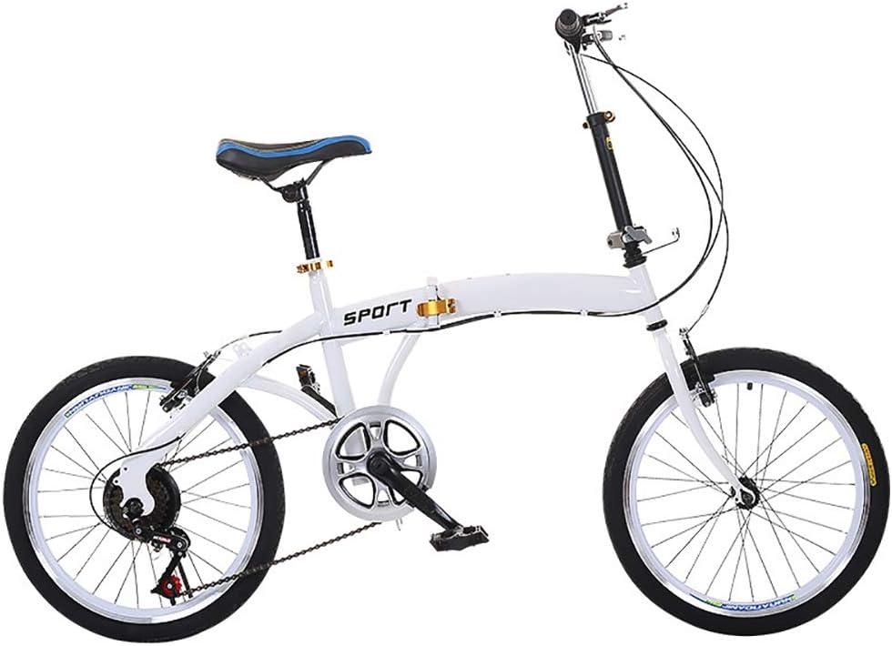 XIAOFEI Bicicleta Plegable Moderna 20 Pulgadas 6 Velocidades V Freno para La Venta, Adecuado Todo Tipo Carreteras En Ciudad, Plegado RáPido, FáCil Almacenamiento Adecuado Altura 125-180 Cm