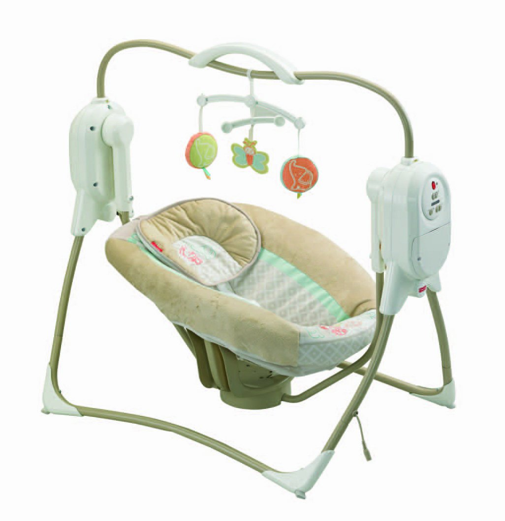 Amazon.com: Fisher Price Power Plus SpaceSaver Cradle U0027n Swing  (Discontinued By Manufacturer): Baby