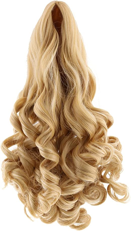 Brown 8 Colors Fantasy Middle Parting Wavy Curly Hair Wig for 18inch American Doll Dolls Hairpiece Making Supplies