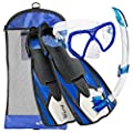 Aqua Lung Sport Flexar Mask Fin Snorkel Set, (Made In Italy)