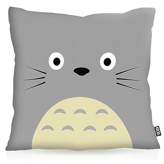 VOID Totoro Cojín con Dibujo Funda de cojín Funda para ...