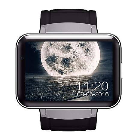 Gskj Reloj Inteligente Hombres Androide Teléfono Inteligente Reloj WiFi Tarjeta Conectable 3G 2.2 Pulgadas Pantalla Reloj