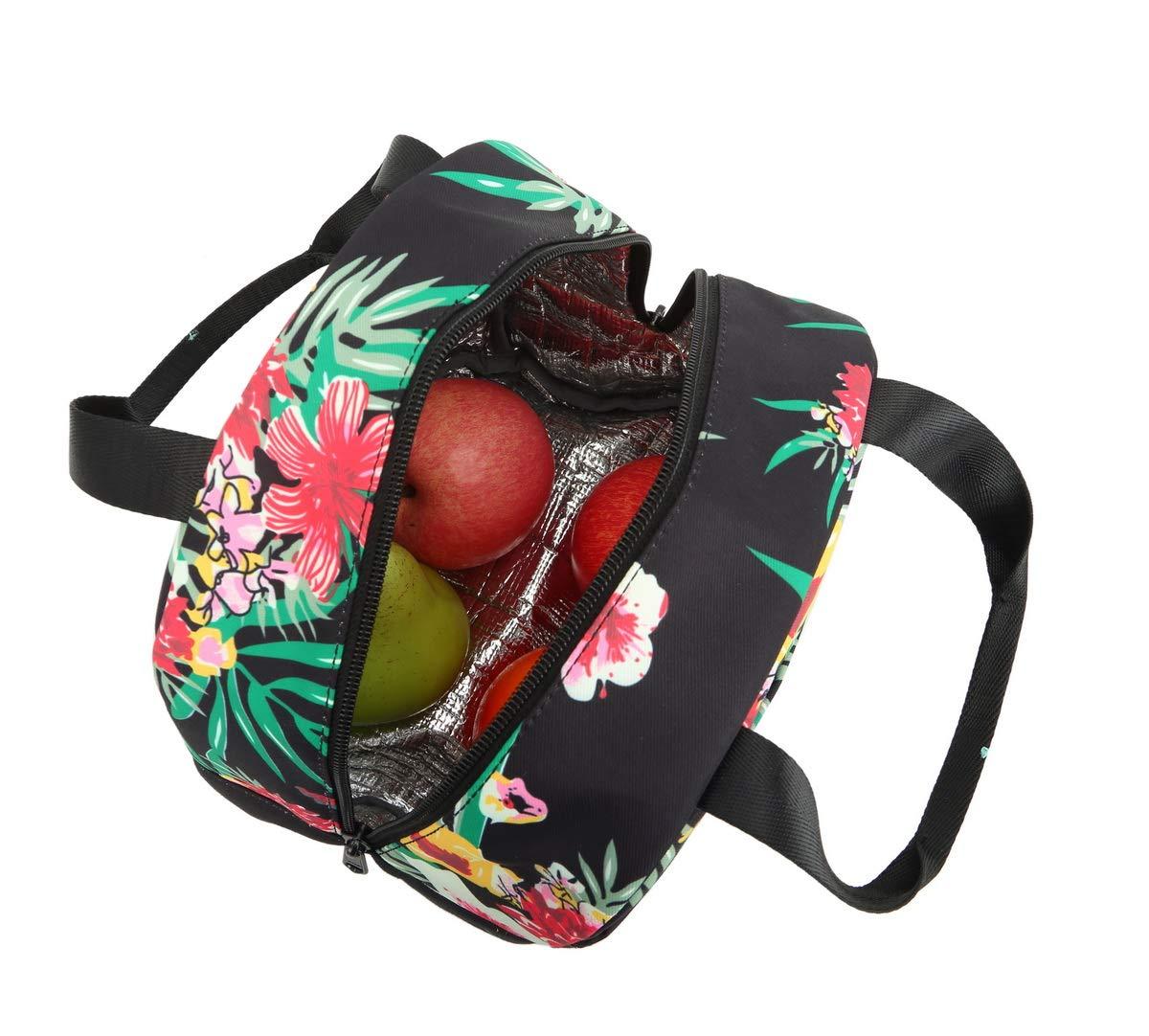 Acmebon Mochila Escolar Resistente al Agua para Ni/ñas Adolescentes Conjunto de Mochila con Bolsa de Almuerzo y Estuche Flor Rosa