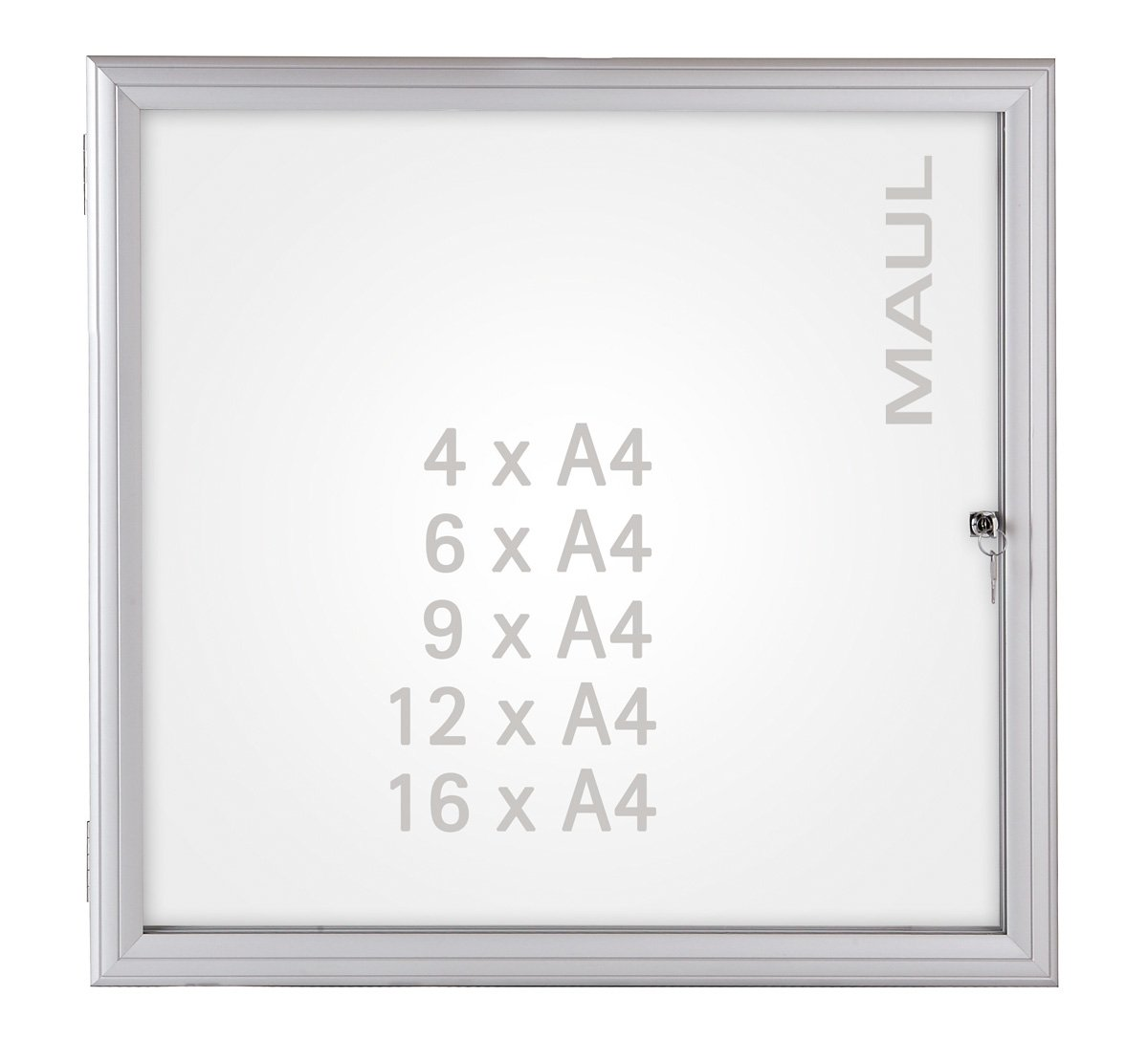 Schlagfest Ausstellungskasten f/ür Innen und Au/ßen Abschlie/ßbar Wasserdicht Schaukasten Lite von Mydisplays 6 x A4