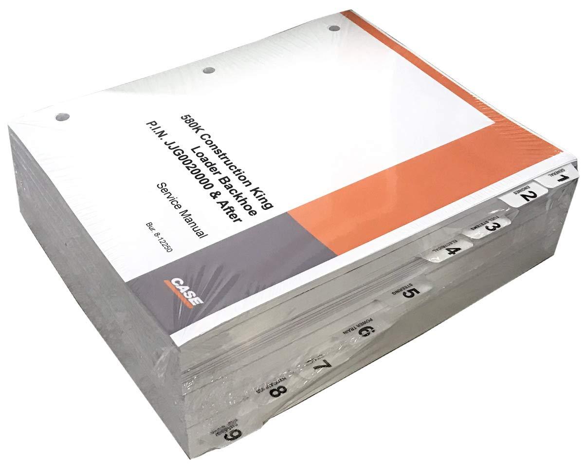 Case 580K Phase 3 Loader Backhoe Workshop Repair Service Manual - Part Number # 8-12790 by Case (Image #1)