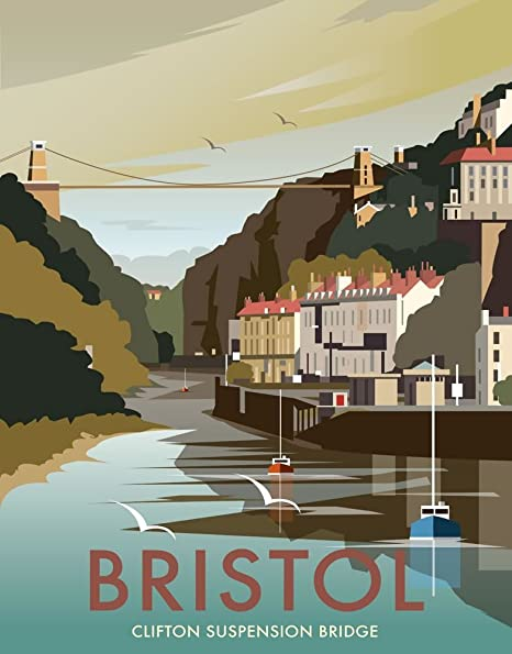 Art247 11 x 14 art print with design of clifton suspension bridge art247 11 x 14quot art print with design of clifton suspension bridge bristol reheart