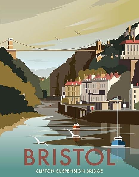 Art247 11 x 14 art print with design of clifton suspension bridge art247 11 x 14quot art print with design of clifton suspension bridge bristol reheart Images