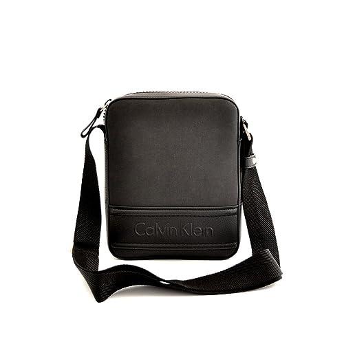 Calvin Klein - Cartera de mano de Piel para hombre negro negro: Amazon.es: Zapatos y complementos
