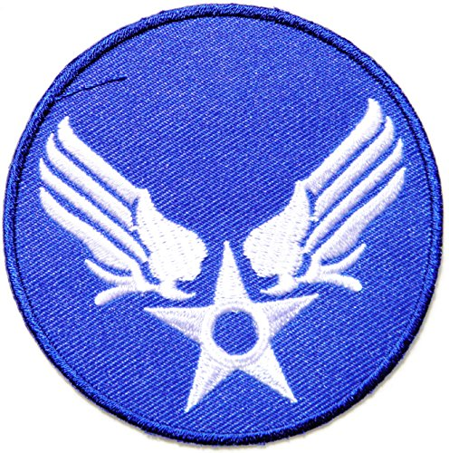 [US USAF Air Force Army Military Pilot Logo Tab Jacket Uniform Patch Sew Iron on Embroidered Sign Badge Costume] (Beer Koozie Costume)