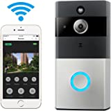 WIFI Video Doorbell, Smart Doorbell 720P HD Wifi Security Camera with 8G Memory Storage, Real-Time Two-Way Talk and Video, Night Vision, PIR Motion Detection and App Control for IOS and Android