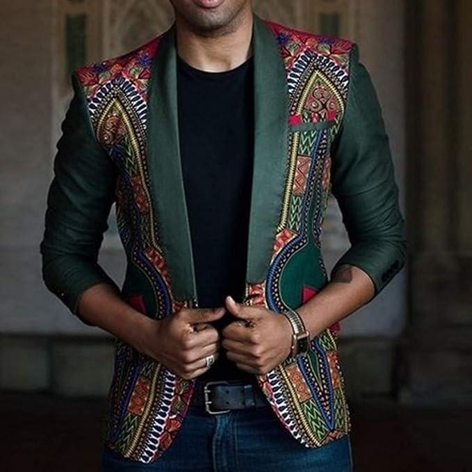 Amazon.com: Sale! Teresamoon New African Mens Fashion Dashiki Cardigan Jacket Long Sleeve Printed Coat: Home & Kitchen