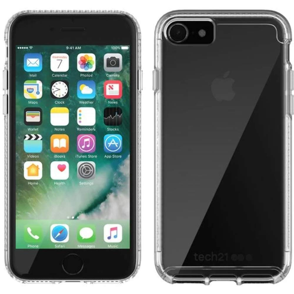 online retailer 72aec f0b5c TECH21 PURE CLEAR BULLETSHIELD CASE FOR iPHONE 8/7 - CLEAR: Amazon ...