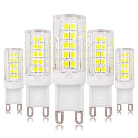 G9 Bombilla LED regulable 6W Blanco 6500K 60W Bombilla halógena de repuesto 220V - 240V,