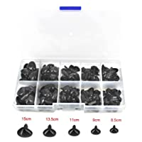 BESTCYC 1box(100pcs) 5 Sizes 8.5 - 15mm Black Plastic Safety Nose Triangle with Washers for Doll Teddy Puppet Making