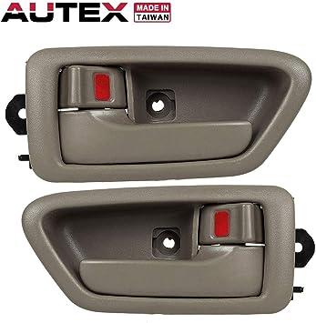 Beige//Tan 2 Right 2 Left PT Auto Warehouse TO-2562E-QS Inside Interior Inner Door Handle//Trim