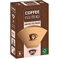 Coffee Filters Filtre Kahve Kağıdı 80'li Brown 1X4