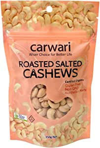 Carwari Organic Carwari Organic Salted Roasted Cashews 150 g