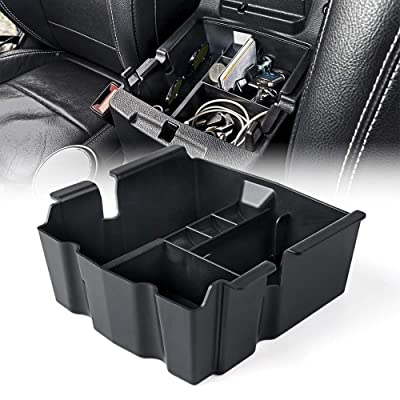 Xprite Center Console Organizer Box with Anti-Slip Rubber Padding for 2020-2020 Jeep Wrangler JL/JLU: Automotive