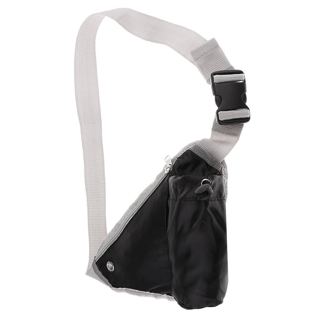 Jiliオンライン多機能三角形スポーツHydrationウエストパック、ハイキング/サイクリング/ランニング/ウォーキング水ケトルBumバッグ、クロスボディバッグ One Size ブラック B078JDX2F7