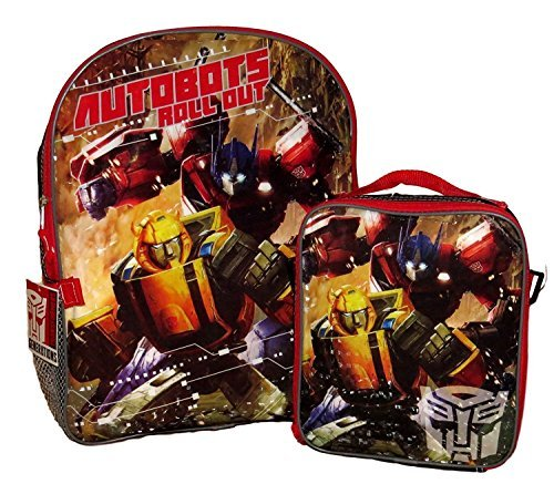Optimus Prime Bumble Bee (Transformers Boys School Backpack Book bag Lunch Box Kid Optimus Prime Bumblebee)