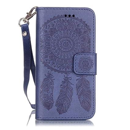 wholesale dealer 23029 c2598 JanCalm Wallet Case for iPhone 6 Plus/6S Plus,[Card Holder/Cash Slots]  Dream Catcher Pattern Flip Case PU Leather with Stand + Wrist Strap Cover  for ...