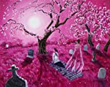 Lenore in the Breaking Dawn Ghost Raven Cemetery Iverson Original Painting on Canvas