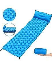 ZXHT Esterilla Inflable para Dormir con Almohada,Colchon Acampada Plegable Ultraligero de Nylon 40D,