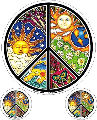 - Dan Morris - Mosaic Peace Sign 3 Pack - Stickers / Decals