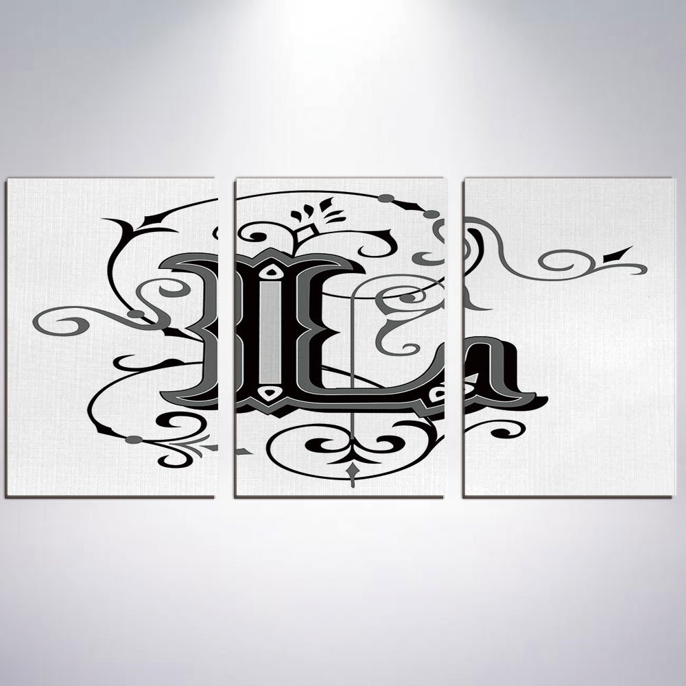 Amazon com canvas print painting letter l graffiti wall art pics for living room decor ready to hang 16 x 24 x 3 panels posters prints
