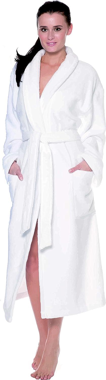 Coton Large White Egeria Mika Unisexe Peignoir Coton