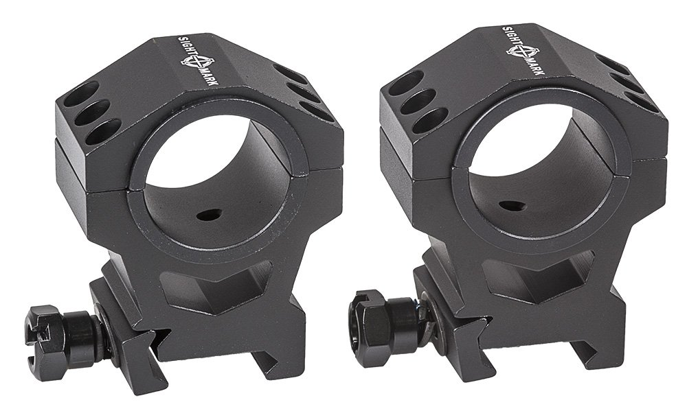 Sightmark Tactical Mounting Rings - High Height Picatinny Rings (Fits 30mm & 1Inch) SM34007