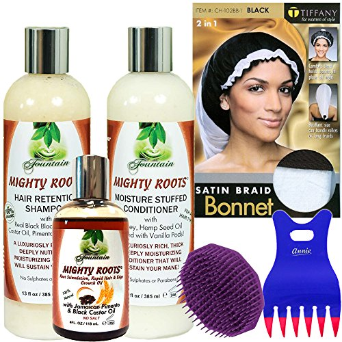 Organic Hair Retention Shampoo Conditioner and Jamaican Pimento Scalp Treatment by Fountain Pimento Oil