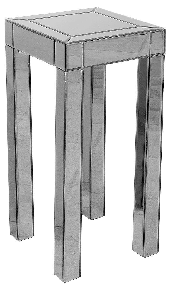 Febland Titanium Mirrored Tall Pedestal Table, Glass, Smoked Mirrored FM275T