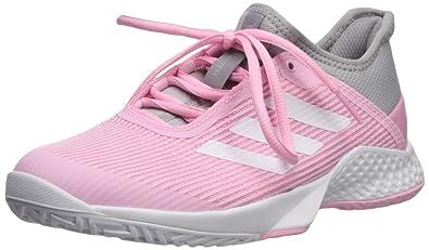 best service 1cad4 27676 adidas Womens Adizero Club, Light GraniteWhiteTrue Pink 5 ...