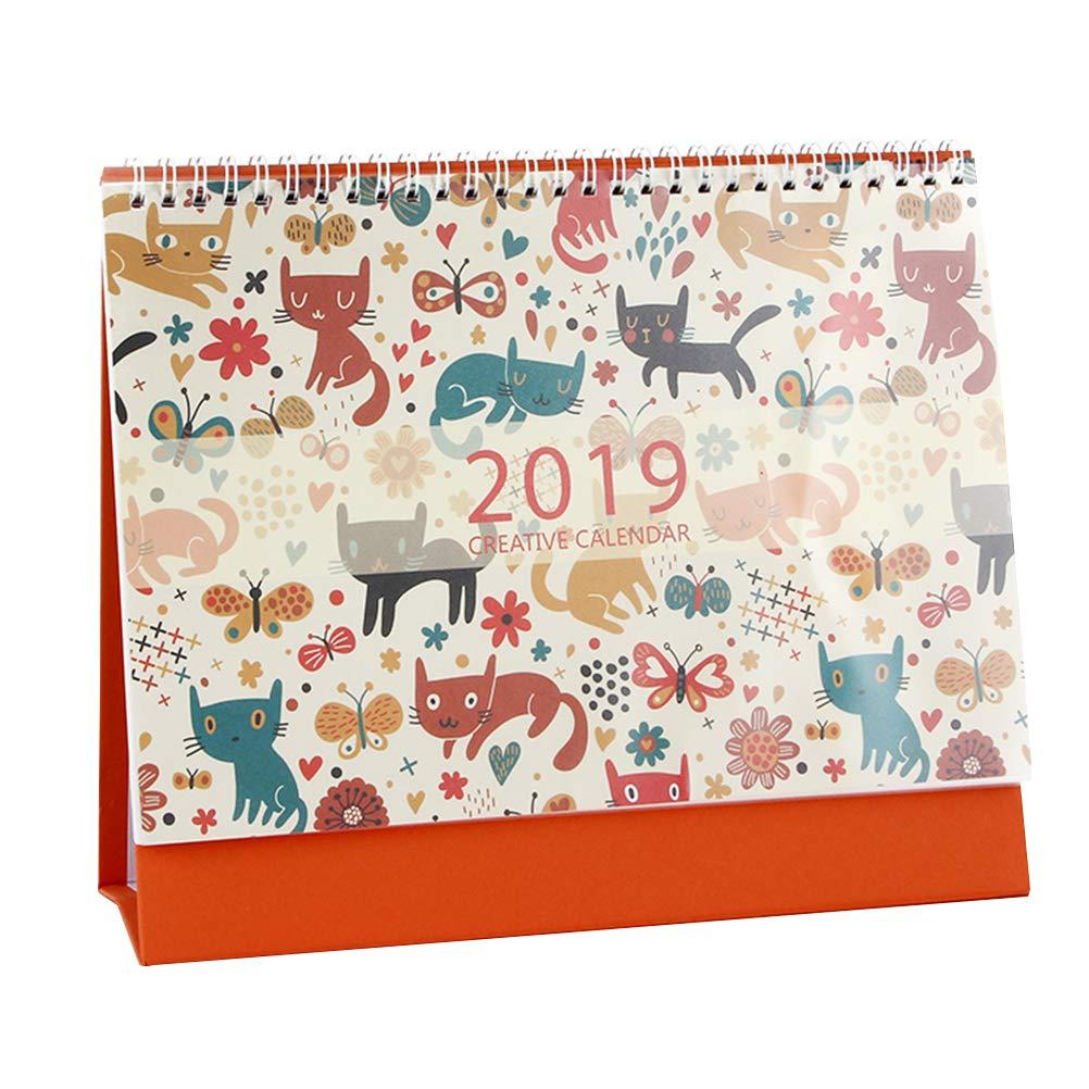 VORCOOL Calendario de Escritorio 2018 2019 Planificador académico Diario Semanal Organizador mensual y Diario de Objetivos, diseñado para Establecer ...