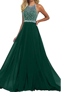 Half Flower Bridal Womens Beaded Bodice Evening Prom Dress Chiffon and Tulle A-Line Prom