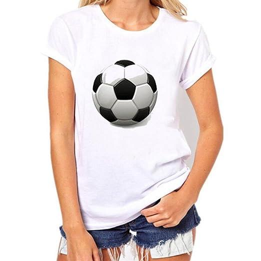 Camisetas Mujer, Ba Zha Hei Moda 2018 nuevos Mujers de La Copa del Mundo de