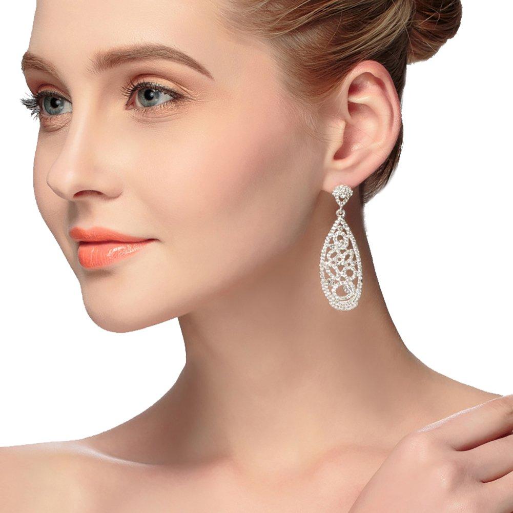 Bridal earrings, diamond earrings wedding accessories, fashion wedding accessories