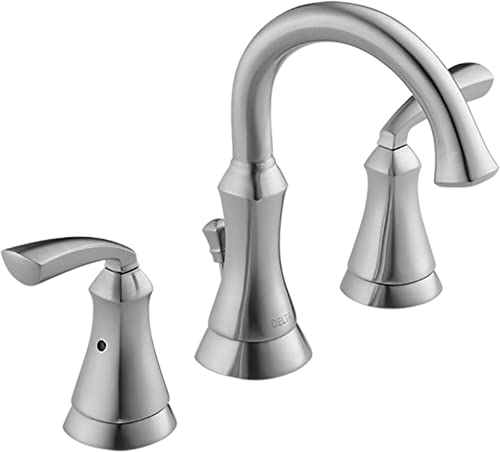 Delta Mandara 8 inch Widespread 2-Handle Bathroom Faucet in Stainless Brilliance Finish