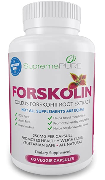 Premium Pure Forskolin Extract 250 Mg Standardized To 20 Recommended Dietary Formula For