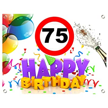 75 Geburtstag Geburtstags Banner Geburtstags Plane Pvc 1 30m X 1