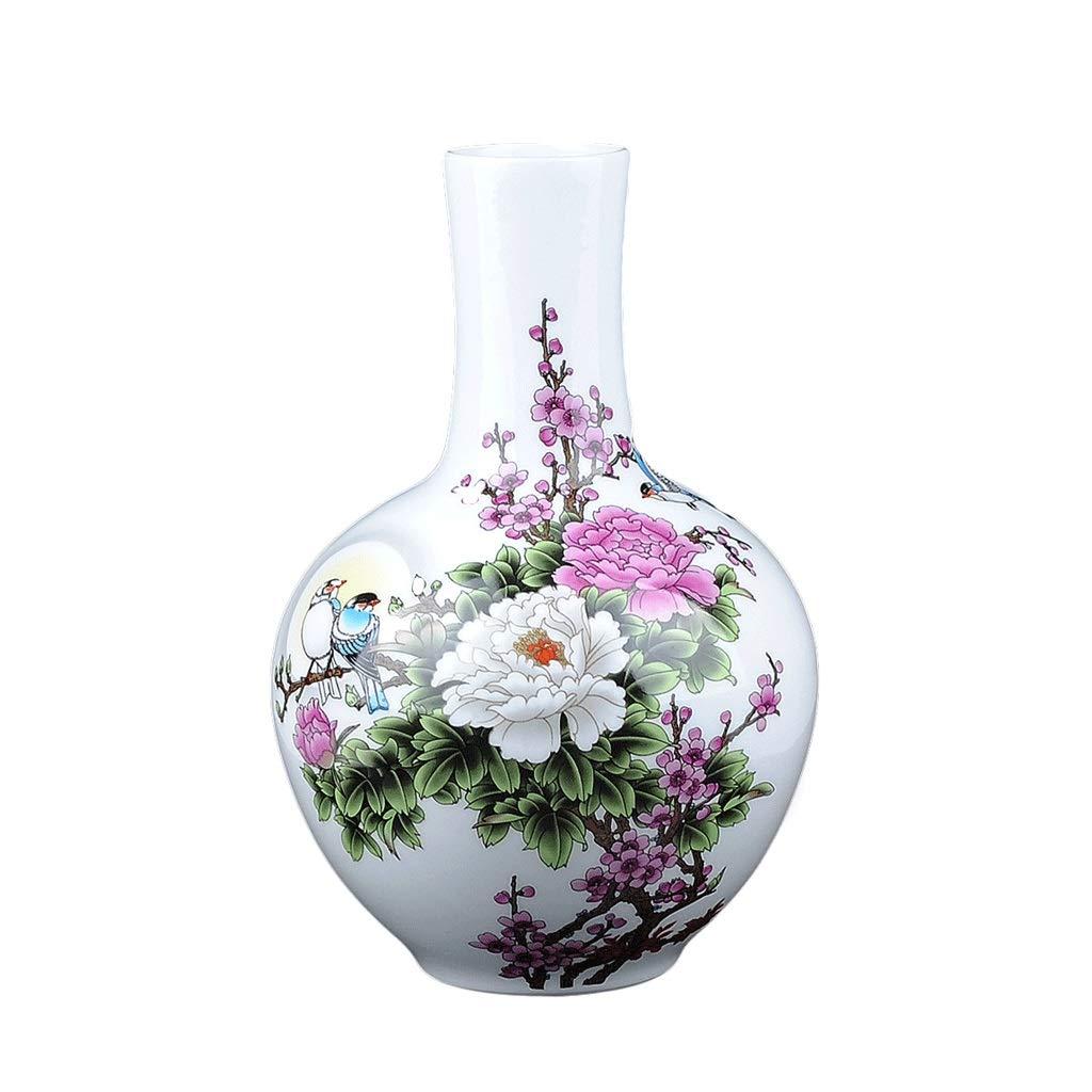 居間の寝室のTVキャビネットの装飾に適した花瓶の白い陶磁器のトランペット、 HUXIUPING (Design : Celestial bottle) B07T64XMDG  Celestial bottle