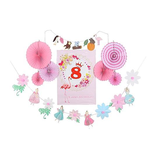 B Blesiya Edades Números 1 A 8 Cumpleaños Cartel Papel ...
