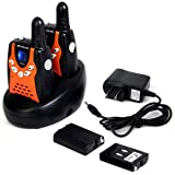 Retevis RT-602 Kids Walkie Talkies Rechargeable VOX 22 Channel 2 Way Radio for Kids for Birthday Gift Christmas (Orange…