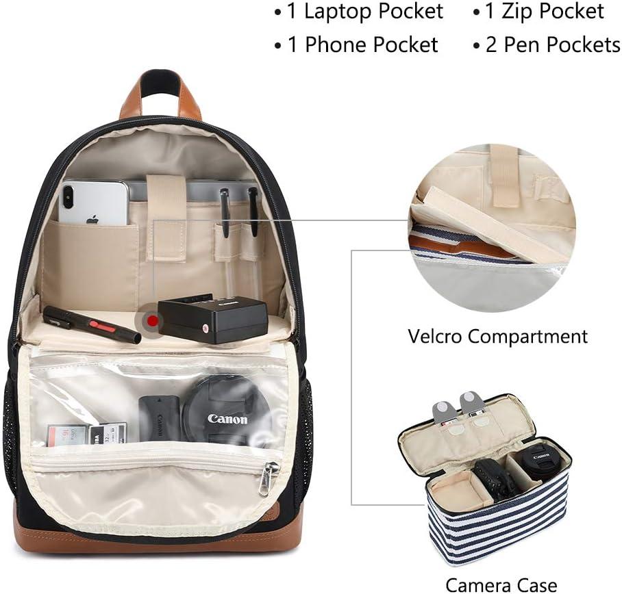 Camera Case Compatible for Nikon Canon Sony Camera Kattee Camera Backpack Professional DSLR//SLR//14 Laptop Camera Bag Waterproof