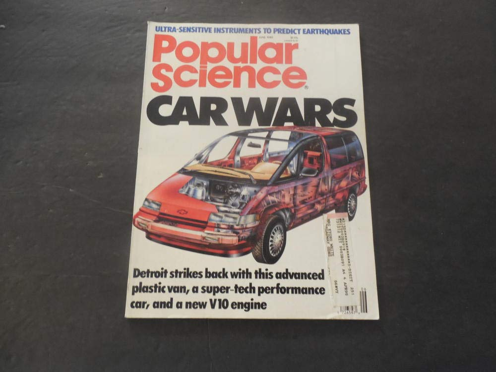 Popular Science Jun 1989 Car Wars: Plastic Vans; V-10 Engines at Amazons Entertainment Collectibles Store