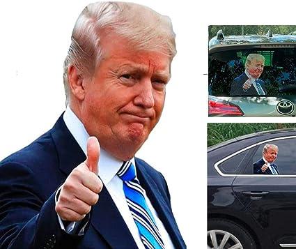 Ride With Donald Trump Autoaufkleber Fensterhaftung Einfache Entfernung Hinterlässt Keine Rückstände Fahren Sie Mit Trump Jetzt Können Sie Es Zeigen Küche Haushalt